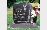 Single Family Monument for Jeffrey Maxwell 201719